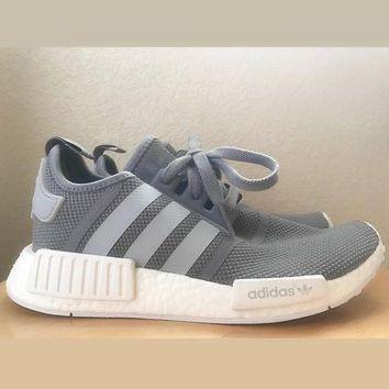 "Women ""Adidas"" NMD Boost Casual Sports Shoes grey"