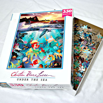 VINTAGE Little Mermaid Puzzle