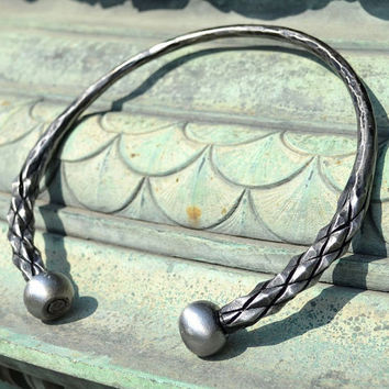DRAGONISH Hand Forged CELTIC TORC Iron Torques Hammered Jewellery Jewelry Celts Iron Age Pagan Necklace Torque Historical Jewel History