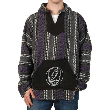 Grateful Dead Men's  Steal Your Face Hooded Sweatshirt Multi