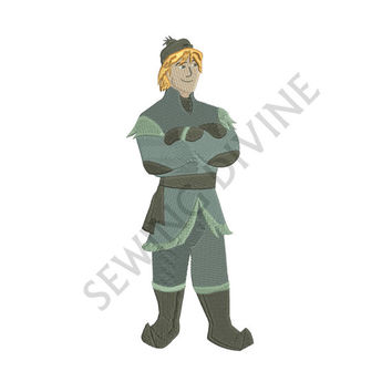 KRISTOFF Embroidery Design Fill 4x4 5x7 6x10 Instant Download Anna Cristoph
