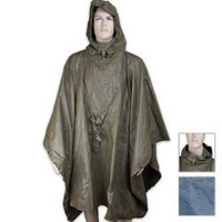 German OD Wet Weather Poncho Used