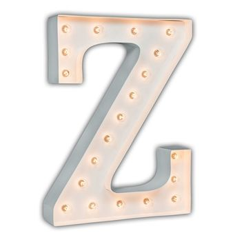 """24"""" Letter Z Lighted Marquee Letters (White Gloss)"""