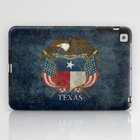 Texas flag and eagle crest - original vintage design by BruceStanfieldArtist iPad Case by Bruce Stanfield