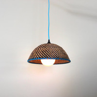 Veev Lamp: Pendant Lamp with Colored Fabric Cords. BIG SALE