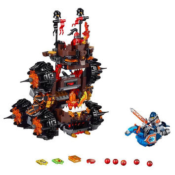 LEPIN Nexo Knights General Magmars Siege Machine of Doom Marvel Building Blocks Kits Toys Minifigures Compatible Legoe Nexus