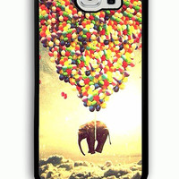 Samsung Galaxy S6 Case - Rubber (TPU) Cover with elephant and balloon Rubber case Design