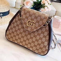 LV Louis Vuitton GUCCI DIOR Fashion Retro Canvas Shoulder Bag Crossbody Satchel