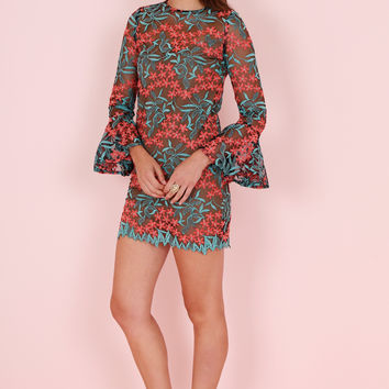 ELLIATT | Creation Shift Dress - Embroidered Floral