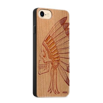 Wood  - Chief Indian Skull Phone Case Phone