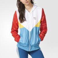 """Adidas"" Casual Long Sleeve Sportswear Multicolor Zip Cardigan Hooded Windbreaker Coat"
