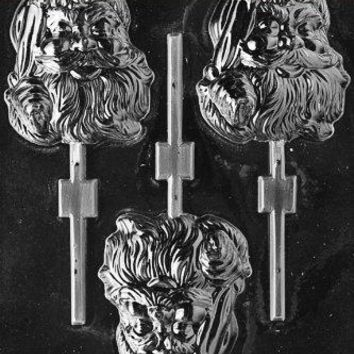 Cybrtrayd Life of the Party C074 Large Santa Pop Chocolate Candy Mold