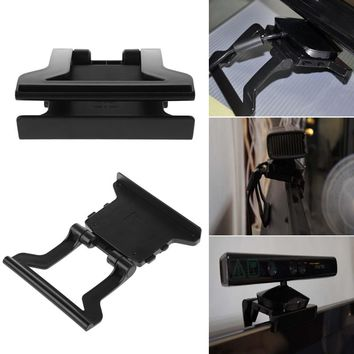 Brand Mini TV Clip Mounting Holder Stand For Xbox 360 X-360 Kinect Sensor Video Games Accessories
