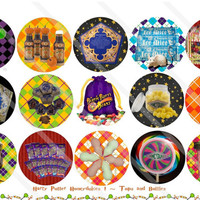 Honeydukes 1 Inch Circles Collage Sheet for Bottle Caps, Hair Bows, Scrapbooks, Crafts, Jewelry & More