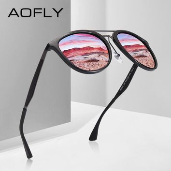 AOFLY BRAND DESIGN Classic Polarized Sunglasses Men Vintage Driving Sunglasses Women UV400 Oculos Masculino AF8116