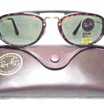 RAY-BAN *NOS VINTAGE B&L `RARE TRADITIONALS W1541 Tortoise-Gold *NEW SUNGLASSES