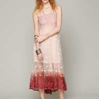 Free People Tralala Embroidered Mesh Maxi