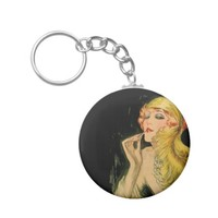 Classy Feather Dame Keychain