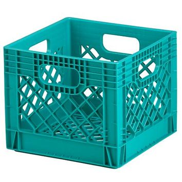 Milk Crate (Aqua) in Under $10 | The Land of Nod