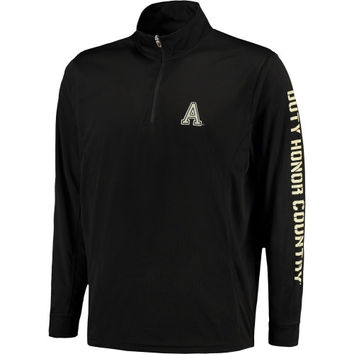 Men's Black Army Black Knights 1/4-Zip Tech Pullover Jacket