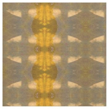 yellow brown abstract pattern fabric