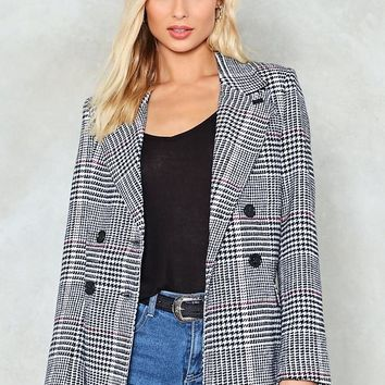 Back in Business Check Blazer