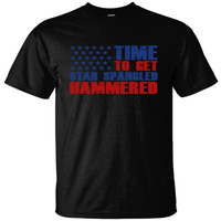 TIME TO GET STAR SPANGLED HAMMERED - Ultracotton T-Shirt