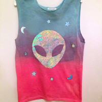 Customizable Alien Believer T-shirt, Tank or Crop Top