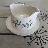 Franciscan China Gravy Boat Winsome Whimsical Bowl Floral Bowl Gravy Bowl Floral Dish Serving Bowl Thanksgiving