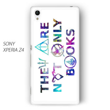 They Are Not Only Books Harry Potter The Hunger Games for Sony Xperia Z1/Z2/Z3 phone case