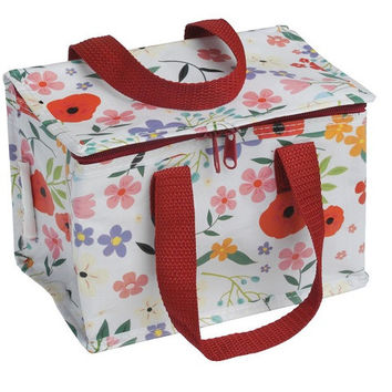 Recycled Lunch Bag Summer Meadow It has a zip closure, made from recycled plastic bottles