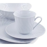 Imperial White Teacups Case of 24 Inexpensive Porcelain Tea Cups and Saucers FREE SHIPPING!