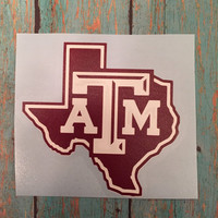 Texas A&M Yeti Decal/Rambler/20 oz. or 30 oz./Tumbler Decal/AGGIES