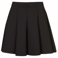 Black Scuba Flippy Skirt