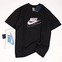 Nike Summer Trending Women Men Stylish Print Round Collar T-Shirt Top
