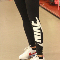 Nike Women Leggings Pants Sweatpants - Black