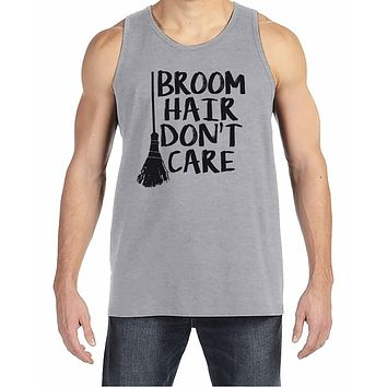 7 ate 9 Apparel Men's Broom Hair Witch Halloween Tank Top