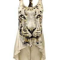TIGER PRINT HI-LOW TANK