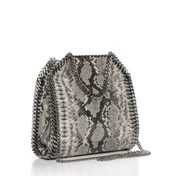 STELLA MCCARTNEY Eco Python Mini Falabella Tote Grey