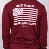 Rowdy Gentleman Back to Back World War Champs Pocket T-Shirt for Men B2BLSPKT
