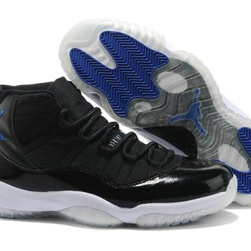 Space Jam Air Jordan Retro 11 Black, Concord-White Basketball Shoes 2017 Top Quality Men Women Number 45 Air 11s Athletic Sport Sneakers With Box
