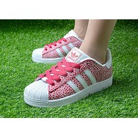 Originals Adidas Superstar Men's Women's Classic Sneaker Sprot Shoes Red / White - D6