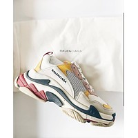 Balenciaga classic trend low-cut sports shoes with tide shoes white