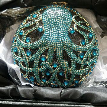 Octopus Crystal Clutch Bag