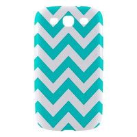 New Tiffany Blue Chevron Pattern Samsung Galaxy S III Hardshell Case Cover Samsung Galaxy S3 Case Chevron Pattern