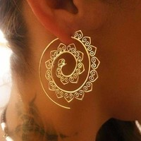 Fibonacci Spiral Zodiac Earrings ( Gold + Silver + Astrology )