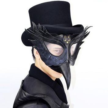 Vintage Steampunk Plague Bird Beak Doctor Masks Gothic Masquerade Ball Masks Retro Rock Punk Mask Halloween Cosplay Costume Prop