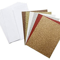 Darice Coordination's A2 Size Cards and Envelopes (Set of 36), Glitter Neutrals