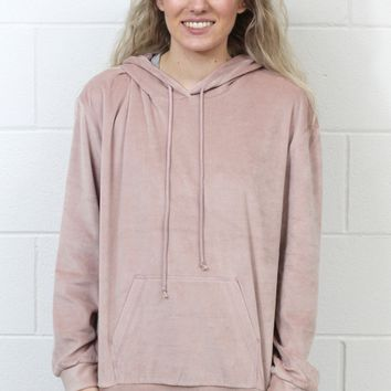 Soft Plush Hoodie {Dusty Pink}