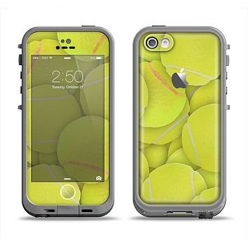 The Tennis Ball Overlay Apple iPhone 5c LifeProof Fre Case Skin Set